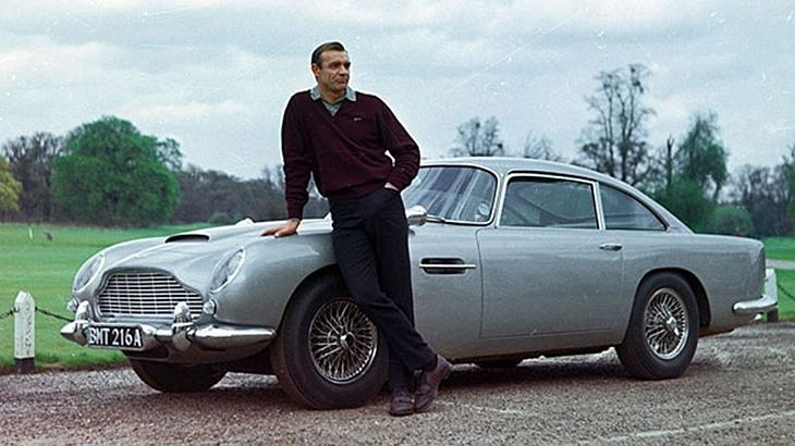 "January 9: ""Goldfinger"" puts James Bond in an Aston Martin DB5 on this date in 1965"