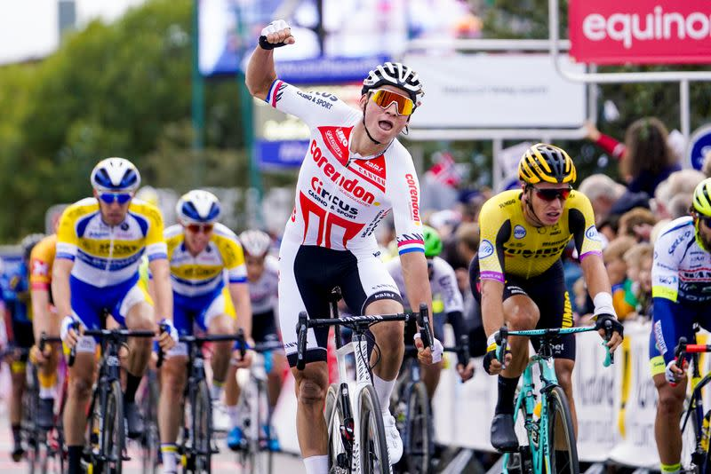 Van der Poel wins Tour of Flanders as Alaphilippe crashes out