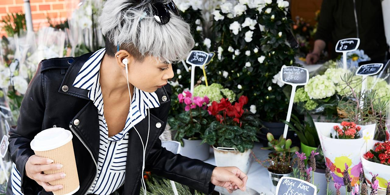 """<p>Hair dye used to be the go-to for <em>covering</em> grey hair, but now it can also be used to embrace it. Whether you're naturally grey and ready to rock it, or you're looking to go temporarily silver, we've found the right coloring products that'll give you the icy hue you crave.</p><p>We chatted with <a href=""""https://www.instagram.com/rachel_bodt/"""" target=""""_blank"""">celebrity colorist Rachel Bodt</a> to get her take on the best way to tackle grey hair color at home:</p><p><strong>Q: Do you think grey hair is trending right now?</strong></p><p><strong></strong><strong>A: </strong>Yes. I think there are so many variations of this too, from more of a white silver to a stone grey. It's becoming more of a staple.</p><p><strong>Q: Do you have any tips for women who want to transition to wearing their natural grey color?</strong><strong><br></strong></p><p><strong>A:</strong> The transition can be a challenge, but I always tell my clients to be patient and to know it will be worth it. There are a few ways you can do it, but it's usually a combination of highlights and lowlights to break the strong line. There's also a trick where you can change the part (of your hair) and apply color on the new part. When enough of the natural grey comes in, we change the part back to the original.<strong><br></strong></p><p><strong>Q: Are there any products you recommend for keeping silver hair looking bright?</strong></p><p><strong></strong><strong>A:</strong> I love Kristen Ess' <a href=""""https://www.target.com/p/kristin-ess-the-one-purple-shampoo-10-fl-oz/-/A-52567229"""" target=""""_blank"""">purple shampoo</a> and <a href=""""https://www.target.com/p/kristin-ess-the-one-purple-conditioner-10-fl-oz/-/A-52567679"""" target=""""_blank"""">conditioner</a>. If you want it even more silver or grey, I love making color conditioners with a white mask and adding a drop of <a href=""""https://www.amazon.com/Creative-Image-Adore-Jet-Black/dp/B004M5RR9Q?th=1&tag=syn-yahoo-20&ascsubtag=%5Bartid%7C2089.g.3176%5Bsrc%7Cy"""