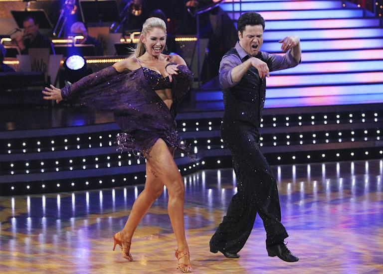 "Kym Johnson and Donny Osmond perform on ""Dancing with the Stars."""