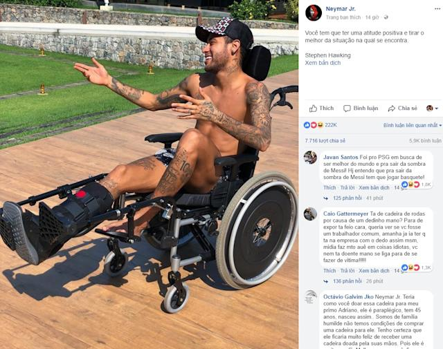 Neymar's post Stephen Hawking