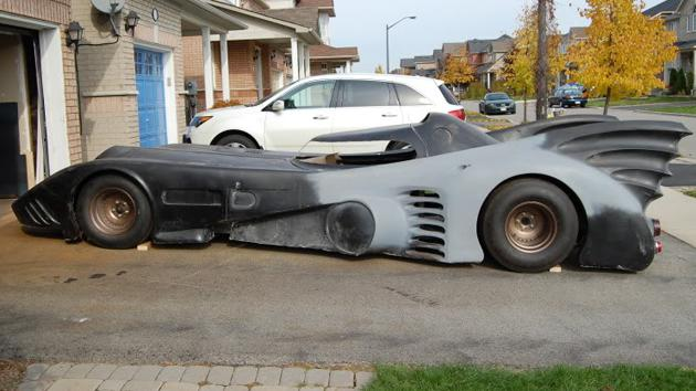 The BatBerry, a home-built Batmobile, readies itself for Canada's streets