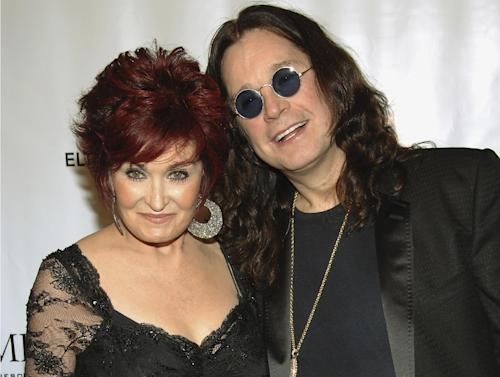 "FILE - This is a Tuesday, Sept. 25, 2007 file photo of Sharon and Ozzy Osbourne as they arrive at the Elton John AIDS Foundation's sixth annual benefit ""An Enduring Vision"" at The Waldorf-Astoria Hotel, in New York. Rocker Ozzy Osbourne has denied Tuesday April 16, 2013, rumors he has split from wife Sharon, and has apologized to his family for his return to drink and drugs. (AP Photo/Evan Agostini)"