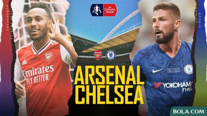 Piala FA - Arsenal Vs Chelsea - Head to Head Pemain (Bola.com/Adreanus Titus)