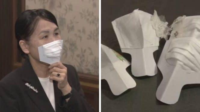 Jepang Ciptakan Masker yang Bisa Bebas Dipakai Makan dan Minum