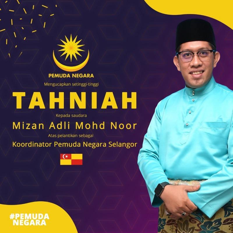 Mizan Adli Mohd Noor is a councillor for the Sepang City Council. ― Picture via Twitter/Pemuda Negara – Rasmi