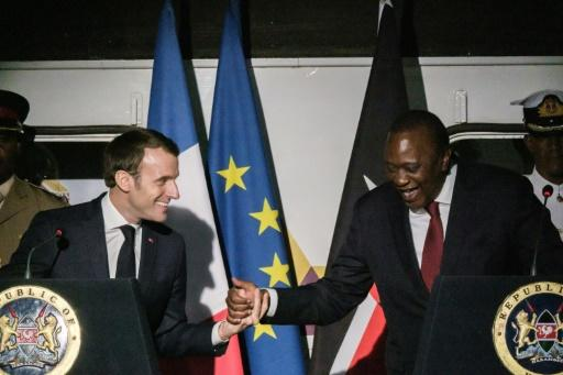 French President Emmanuel Macron and Kenyan counterpart Uhuru Kenyatta were among several heads of state in Nairobi for the fourth UN Environment Assembly -- a vast gathering of ministers, legal experts, charities and business leaders