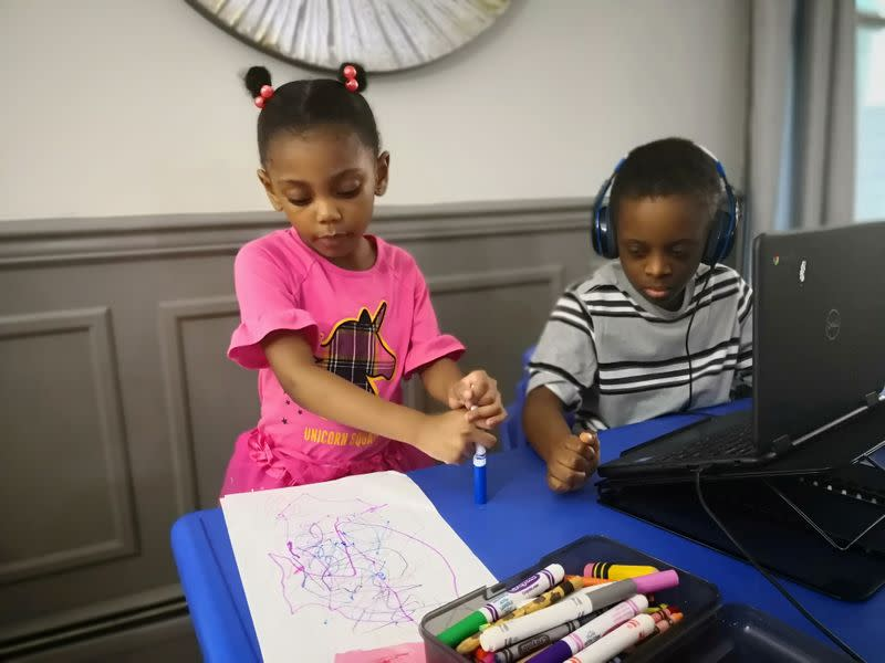 'It's exhausting': American families stumble through first weeks of virtual school
