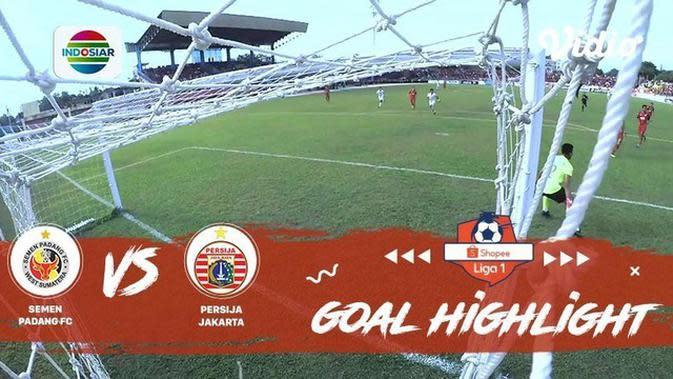 VIDEO: 4 Gol yang Tercipta pada Laga Semen Padang Vs Persija di Liga 1 2019