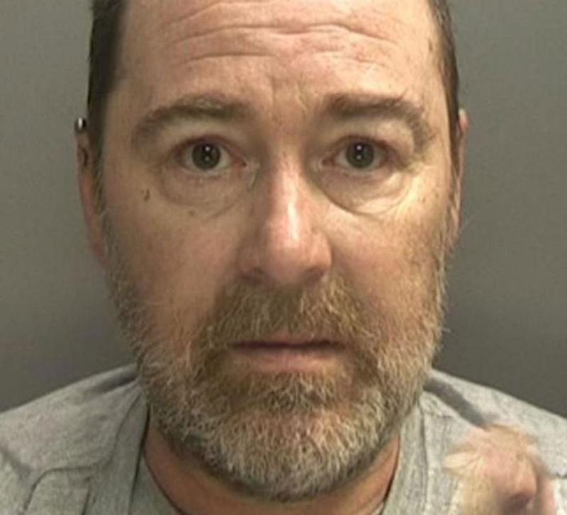 Pictured is David Harrison who was jailed seven years for beating his partner Lynn Hart.