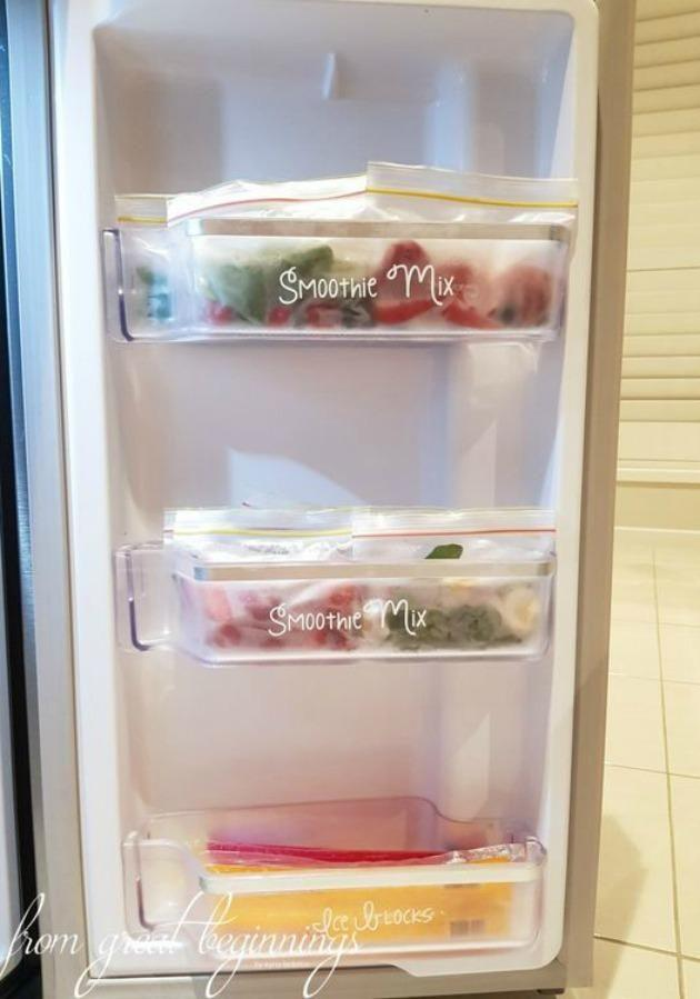 Fridge goals are now a thing thanks to DIY blogger Iryna Federico. Source: Pinterest/ From Great Beginnings.