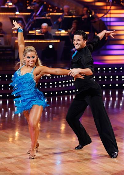 "Shawn Johnson and Mark Ballas perform the Samba to ""Get Down On It"" by Kool and the Gang on ""Dancing with the Stars."""