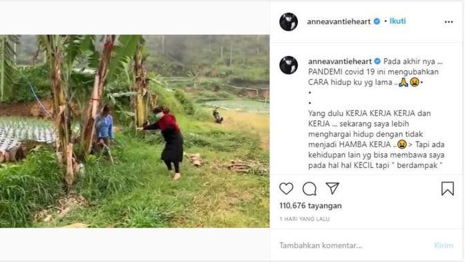 Dampak Pandemi, Anne Avantie Coba Pola Hidup Baru. (dok.Instagram @anneavantieheart/https://www.instagram.com/p/CDUtV31j4Pr/Henry)