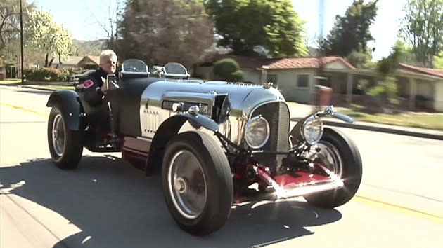Jay Leno unveils his twin-turbo hot-rod Bentley, as W.O. would have wanted