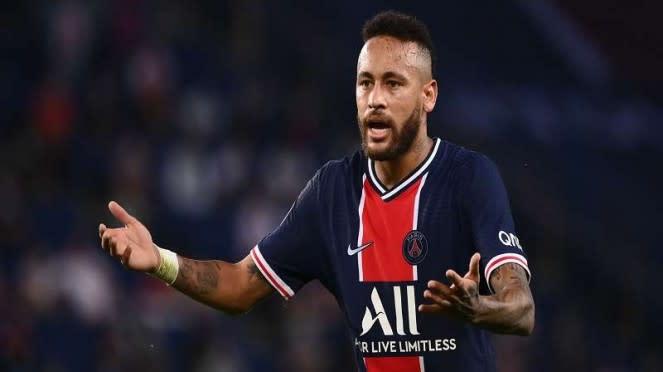 Neymar saat PSG hadapi Marseille