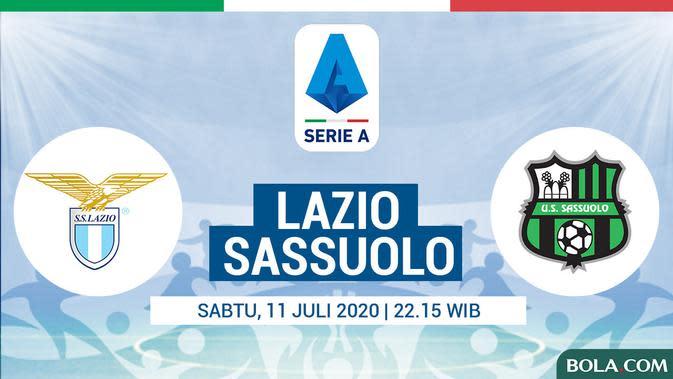 Link Live Streaming Lazio Vs Sassuolo