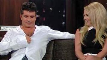 Simon Cowell Shows Off Britney Chemistry, Chest Hair On 'Kimmel'