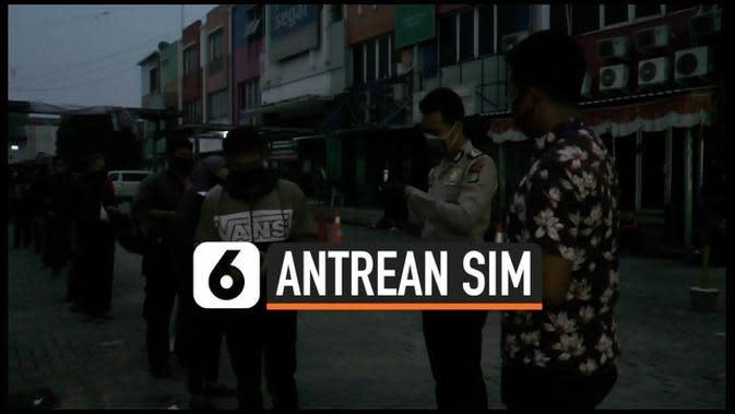 VIDEO: Sejak Subuh Antrean SIM Memenuhi Mapolres Depok