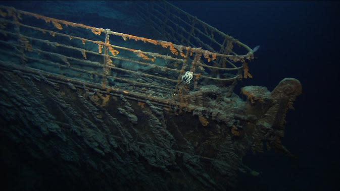 Bangkai kapal Titanic masih menunjukkan keagungannya (NOAA)