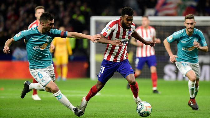 Gelandang Atletico Madrid, Thomas Lemar (AFP/Cristina Quicler)