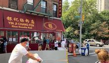 白人司機撞翻華埠戶外用餐位 刮倒華裔耆老後逃逸