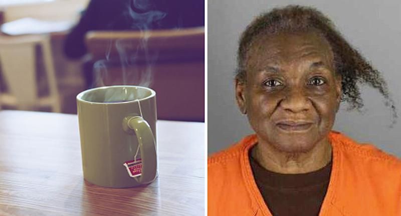 Helen Washington (right), a grandma accused of shooting, her grandson after an argument about tea.