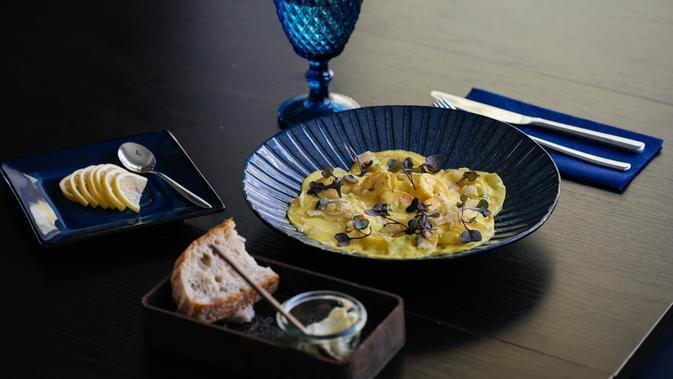 Ilustrasi omelet sayur. (Photo by Valeria on Pexels)