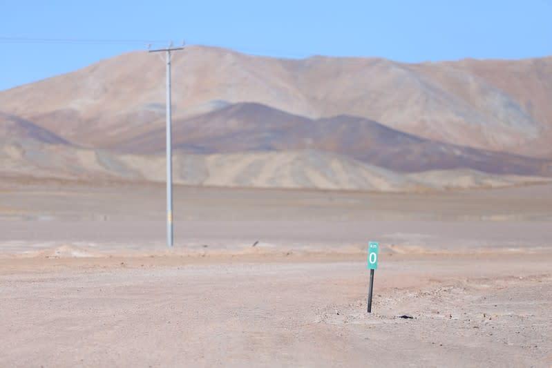 A view of Pedernales Salt Flat in the Atacama Desert
