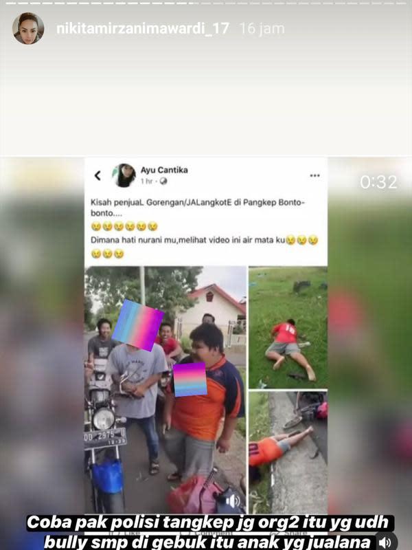 Unggahan Nikita Mirzani. (Foto: Instagram @@nikitamirzanimawardi_17)