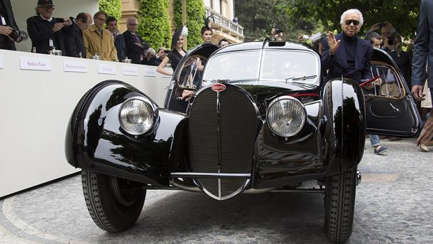 Ralph Lauren's $40 million Bugatti wins top prize at Concorso d'Eleganza
