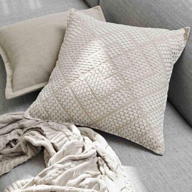 The block shop Tarifa Cushion in Sandstorm by Weave Home