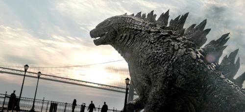 """This image released by Warner Bros. Pictures shows a scene from the film, """"Godzilla."""" (AP Photo/Warner Bros. Pictures)"""
