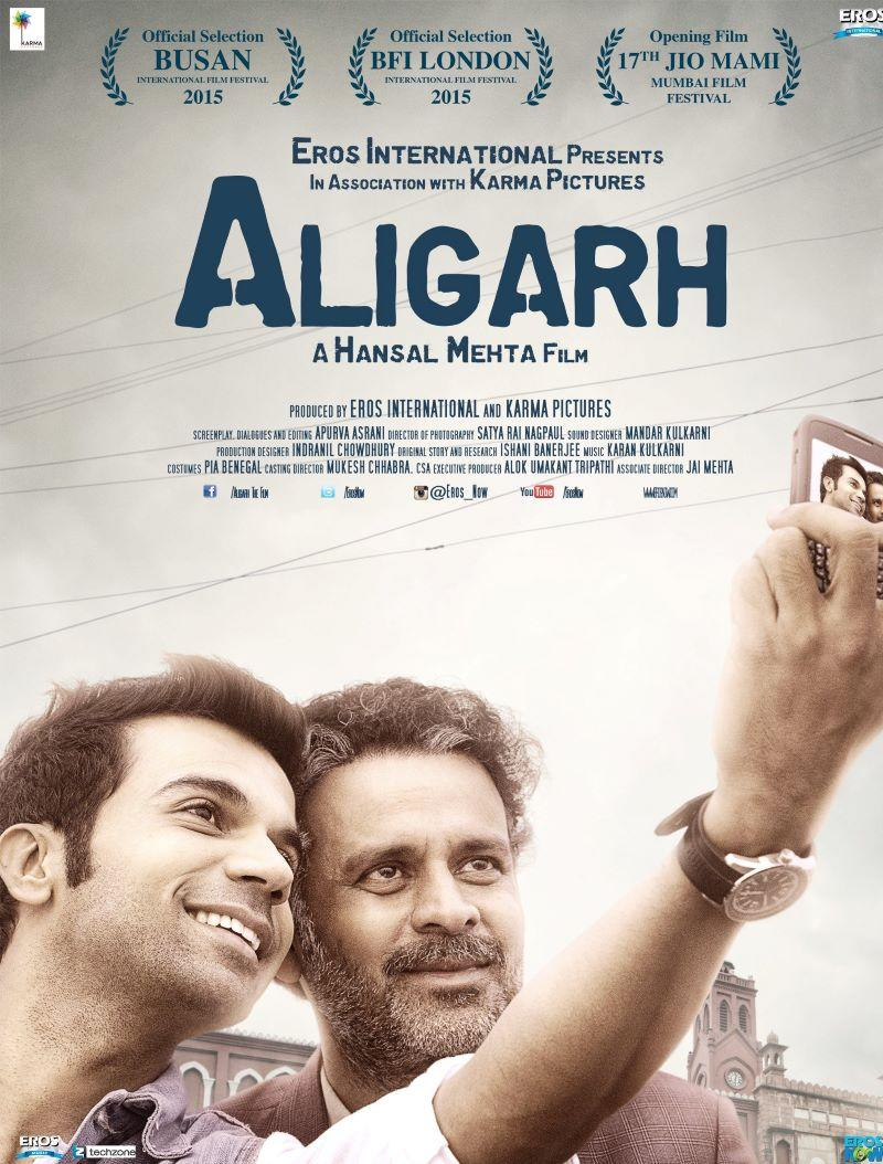 Official poster of the film, 'Aligarh'
