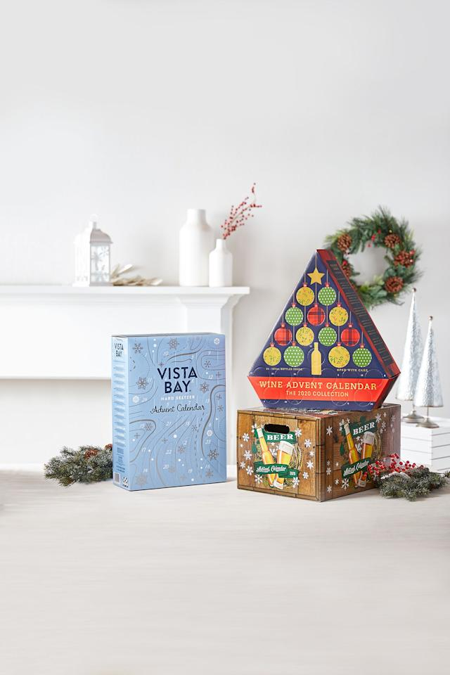 """<p>Sure, the holiday season is centered around time with family and friends, <a href=""""https://www.goodhousekeeping.com/holidays/christmas-ideas/g29073023/easy-christmas-dinner-ideas/"""" target=""""_blank"""">seriously delicious food</a>, and the <a href=""""https://www.goodhousekeeping.com/holidays/christmas-ideas/how-to/g2203/christmas-decoration-ideas/"""" target=""""_blank"""">festive Christmas decorations</a>, but what would Christmas be without a glass of wine by the fireplace? These alcohol <a href=""""https://www.goodhousekeeping.com/holidays/christmas-ideas/g4911/christmas-advent-calendar/"""" target=""""_blank"""">advent calendars</a> are the gifts that just keep on giving (assuming the recipient has some self control). Open up for a thoughtful assortment of mini bottles, cans, or perfectly-measured vials of wine worth toasting with!</p><p>Does your giftee prefer light, crisp wine, or full-bodied sips? How about beer, whiskey, or Prosecco? There's something for everyone on this list, each with 12 to 24 treats inside. Also worth noting: If you'd like to build your very own alcohol advent calendar, <a href=""""https://www.amazon.com/dp/B07G5KPXF5?tag=syn-yahoo-20&ascsubtag=%5Bartid%7C10055.g.29704218%5Bsrc%7Cyahoo-us"""" target=""""_blank"""">Amazon sells nifty advent boxes </a>(with wine and spirit themes) so you can fill them with whatever you'd like. </p>"""
