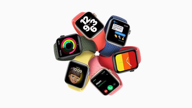 Tampilan Apple Watch SE yang baru saja diluncurkan. (Dok. Apple)