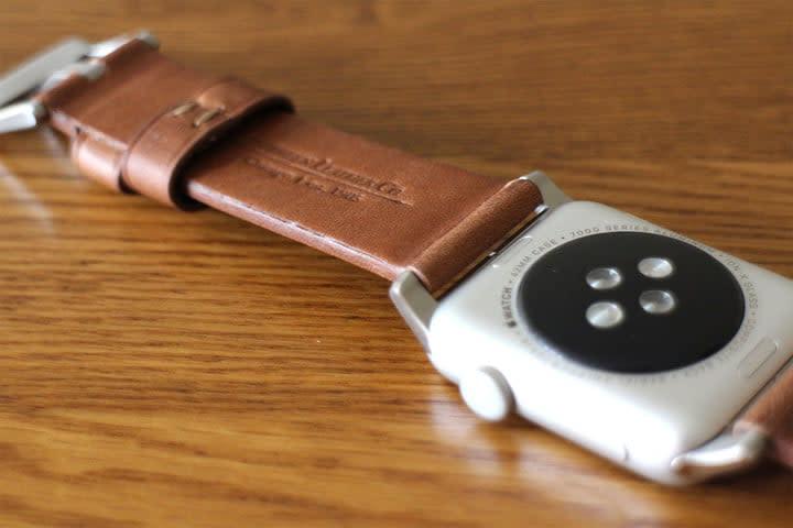 best Apple Watch bands Nomad Leather Strap underside