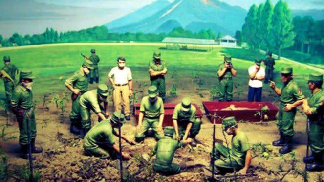 VIVA Militer: Diorama penggalian Lubang Buaya Yogyakarta.
