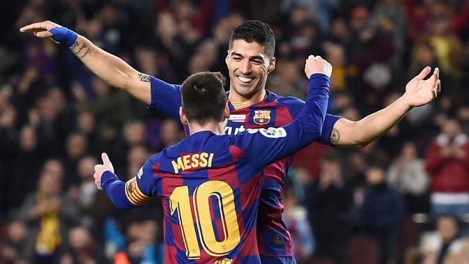 Liga Spanyol: Jawaban Indah Luis Suarez untuk Pesan Perpisahan dari Lionel Messi