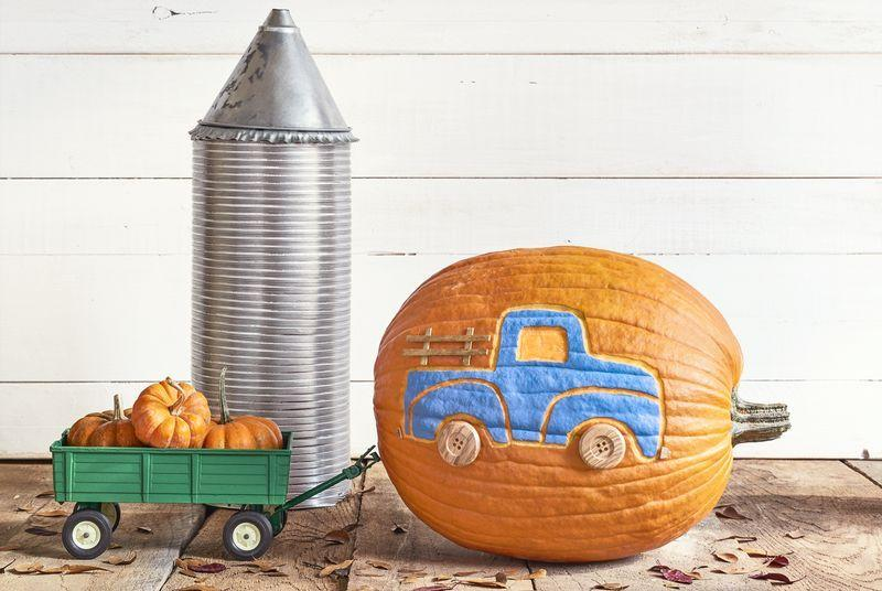 """<p>From <a href=""""https://www.countryliving.com/food-drinks/g619/our-best-pumpkin-recipes-1008/"""">pumpkin recipes</a> and spiced beverages to jack-o'-lanterns and mums, everyone knows that fall and pumpkins are practically synonymous. You might <em>not</em> know, though, that you can truly transform the bright orange seasonal staple into absolutely anything you please, from lanterns to votives to, yes, even a wood-burning stove. Let your crafting skills shine this October 31 and think outside the box with these genius Halloween pumpkin decorating ideas. <br></p><p>Be it a monogrammed front porch fixture, adorable DIY animals, or prize ribbons made from mini pumpkins. Make downright gourd-geous decor for the inside of your home, too—you'll want to leave the pumpkin bookshelf tree, staircase liners, and pumpkin-carved flames for your fireplace on display all season long. </p><p>As always, we had to throw in the most refined and rustic country touches, including a <a href=""""https://www.countryliving.com/diy-crafts/g1999/halloween-mason-jars/"""">Mason jar</a> pumpkin lookalike, a cross-stitch pumpkin, and best, of all, a quilted pumpkin—enough said. Whether you go with one of the multiple classic <a href=""""https://www.countryliving.com/diy-crafts/g279/pumpkin-carving-ideas/"""">pumpkin carving ideas </a>or opt for an easy <a href=""""https://www.countryliving.com/diy-crafts/g1363/painted-pumpkins/"""">painted pumpkin</a>, your gourds will give neighbors pumpkin to talk about. In addition to these pumpkin decorations, try your hand at one of these   wickedly wonderful <a href=""""https://www.countryliving.com/entertaining/g271/halloween-decorating-1005/"""">Halloween decorating</a> ideas. You porch, party, and seasonal decor will be the talk of the town!<br></p>"""