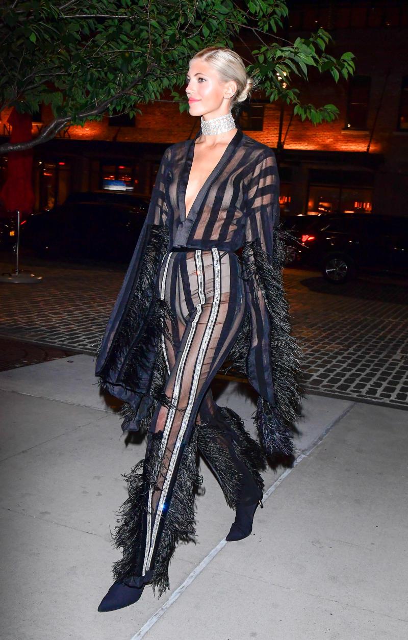 Model Devon Windsor at New York Fashion Week. Photo: Getty