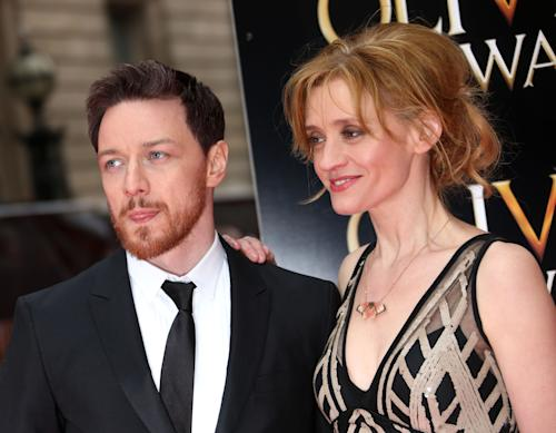 British actors James McAvoy and Anne-Marie Duff arrive for the Olivier Awards 2013 at the Royal Opera House in London on Sunday, April 28, 2013. (Photo by Joel Ryan/Invision/AP)
