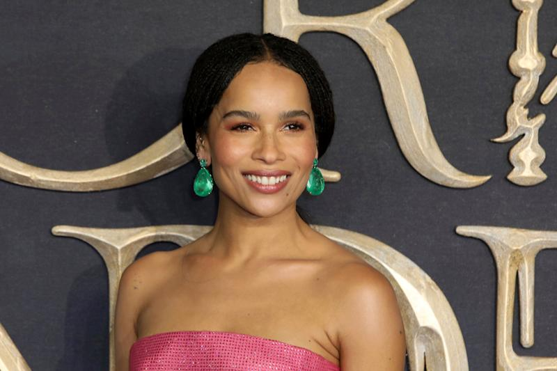 Actress Zoe Kravitz poses for photographers on arrival at the premiere of the film 'Fantastic Beasts: The Crimes of Grindelwald', in London, Tuesday, Nov. 13, 2018. (Photo by Grant Pollard/Invision/AP)
