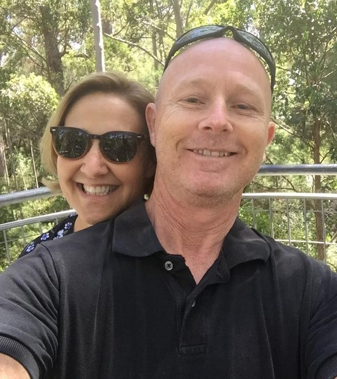 Joanie is moving forward with hubby Paul by her side. Photo: Supplied