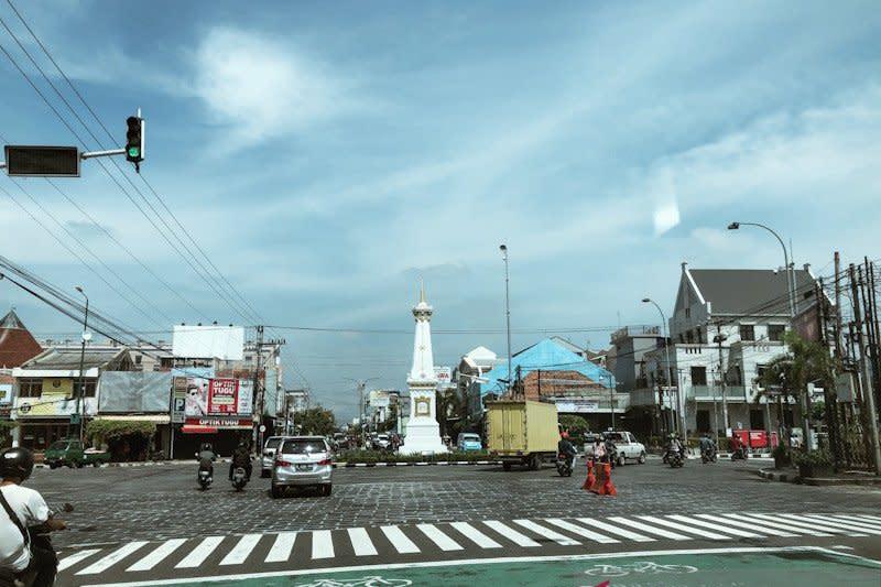 Kepadatan lalu lintas di Yogyakarta alami penurunan
