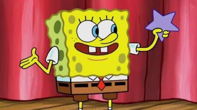 900 Gambar Awan Spongebob  Paling Keren