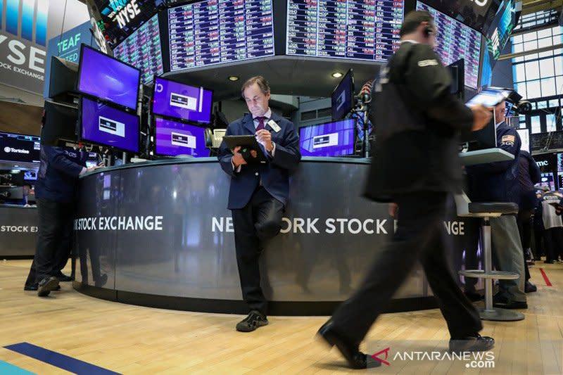 Cemaskan dampak virus, Wall Street turun dipimpin sektor teknologi