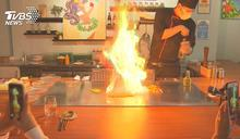 桌邊秀特技! 鐵板燒「噴火、拋蛋」PK甜點作畫