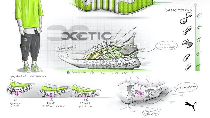 Dengan teknologi bantalan terbaru, Puma memperkenalkan Xetic yang berikan rasa nyaman saat berjalan (Foto: Puma)