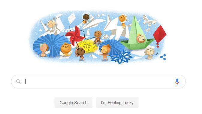 Google Doodle Hari Anak Nasional 2020. (Doc: Google)