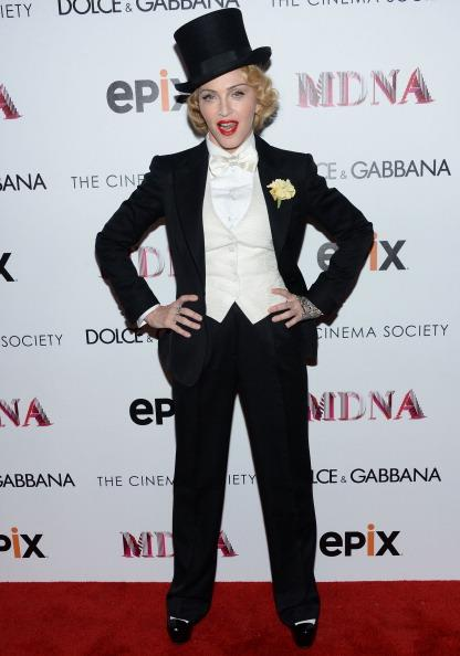 Madonna Channels Marlene Dietrich in Top Hat and Tux